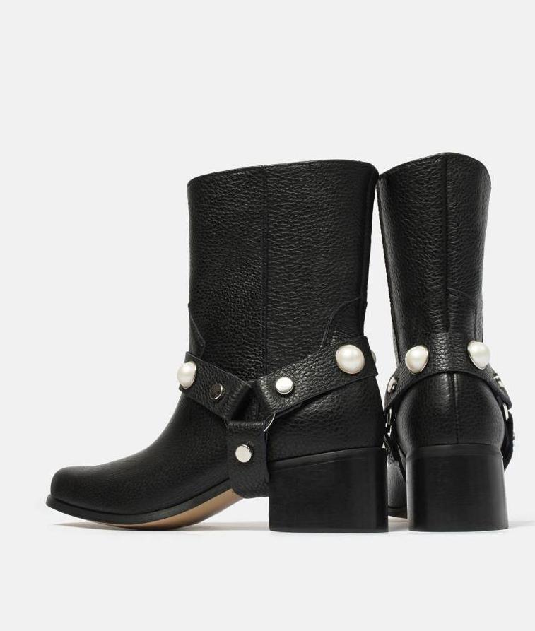 piękne buty zperłami, ciekawe buty, trzewiki, stylowe buty