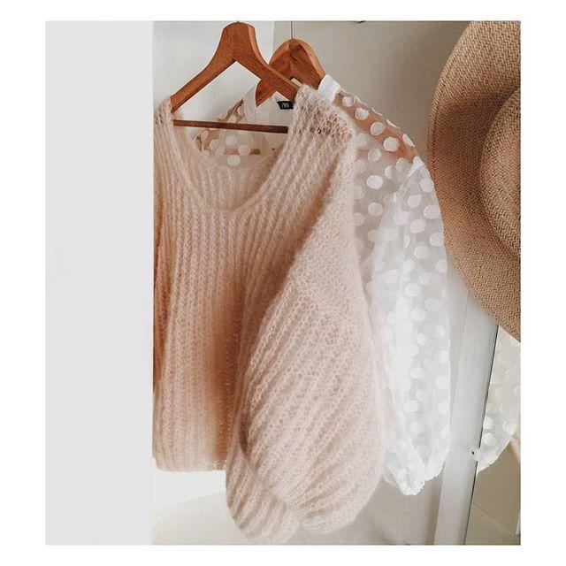piękny sweter, bufiaste rękawy, handmade, modny sweter, damski sweter