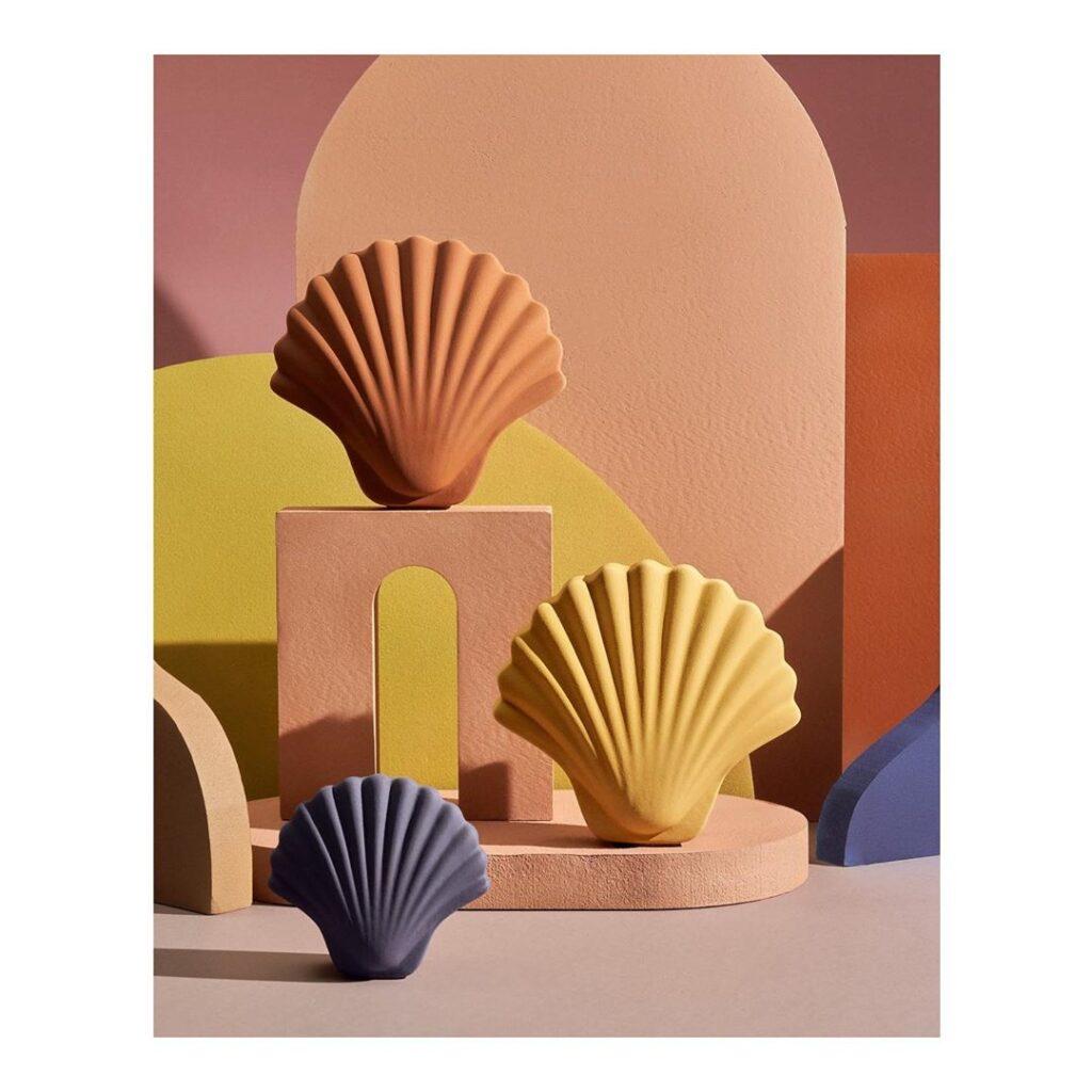 nomad sztuka rzemiosło piękne dodatki dodomu ceramika muszelki muszle piękne pudełka