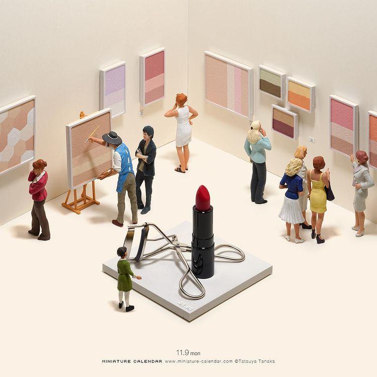 Tatsuya Tanaka, sztuka, art, miniaturowy świat, wyobraźnia, artysta, wystawa